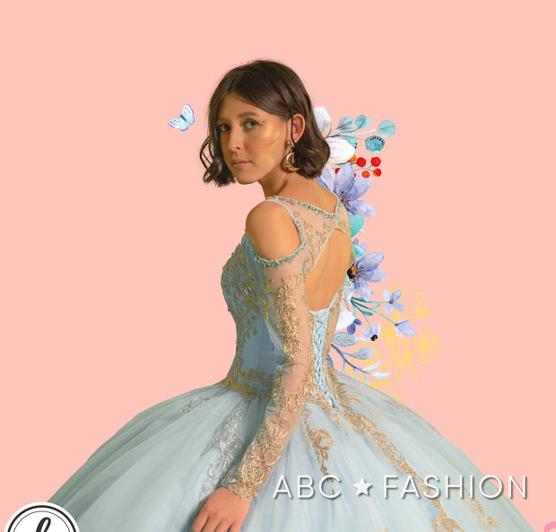 Long Sleeve Tulle Dress by Forever Quince FQ830