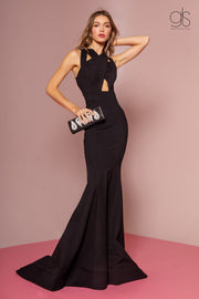 Long Sleeveless Mermaid Dress with Cut Outs by Elizabeth K GL2706-Long Formal Dresses-ABC Fashion