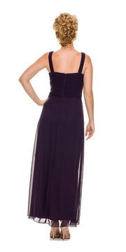 Long Sleeveless Ruched Bodice Dress with Jacket by Nox Anabel 5099-Long Formal Dresses-ABC Fashion