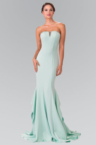 Long Strapless Dress with Beaded Accents by Elizabeth K GL2305-Long Formal Dresses-ABC Fashion