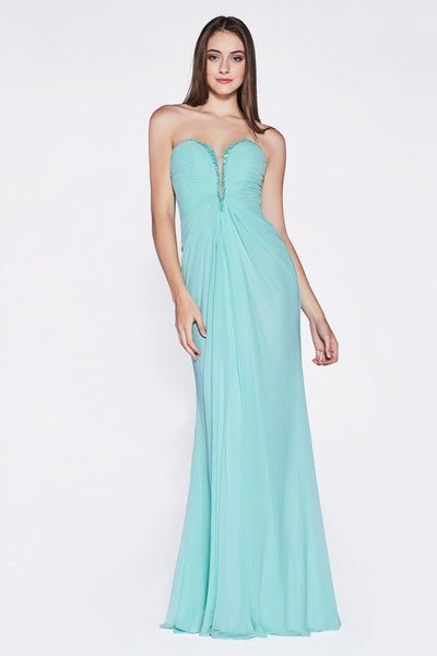 Long Strapless Sweetheart Dress by Cinderella Divine 663-Long Formal Dresses-ABC Fashion