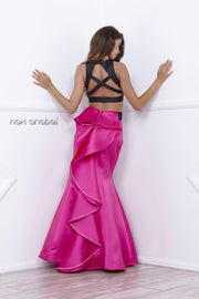 Long Two-Piece Mermaid Dress by Nox Anabel 8292-Long Formal Dresses-ABC Fashion