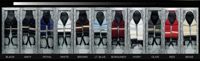 Mens Button Type Suspenders - 11 Colors-Men's Formal Wear-ABC Fashion