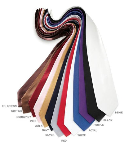 Mens Solid Ties - 13 Color-Men's Formal Wear-ABC Fashion