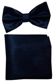 Metallic Gold Bow Tie with Pocket Square (Pointed Tip)-Men's Bow Ties-ABC Fashion