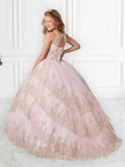 Metallic Lace Strapless Quinceanera Dress by House of Wu 26938-Quinceanera Dresses-ABC Fashion