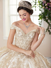 Mikado Off Shoulder Quinceanera Dress by House of Wu 26963