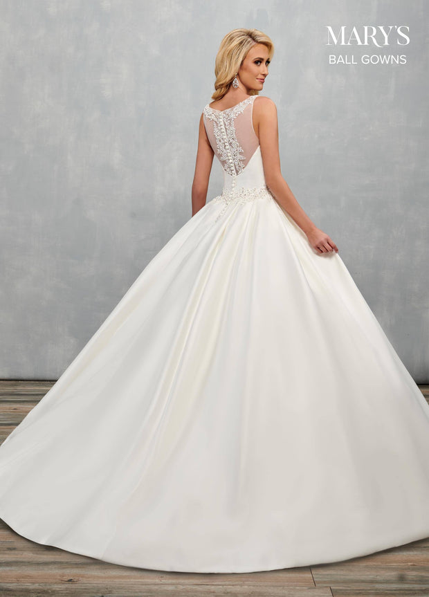 Mikado Wedding Ball Gown by Mary's Bridal MB6077