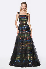 Multi-Colored Sequin Gown by Cinderella Divine CS032