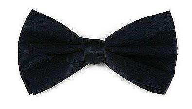 Navy Blue Silk Bow Ties-Men's Bow Ties-ABC Fashion