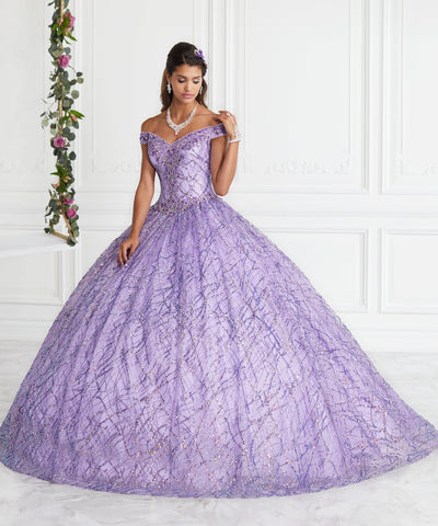 Off Shoulder Glitter Quinceanera Dress by House of Wu 26944-Quinceanera Dresses-ABC Fashion