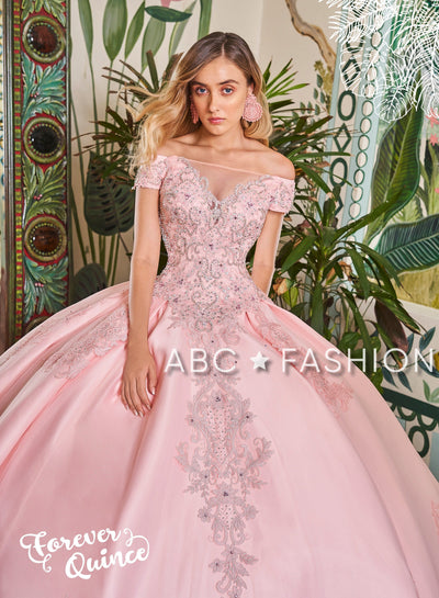 Off Shoulder Illusion Quinceanera Dress by Forever Quince FQ803-Quinceanera Dresses-ABC Fashion