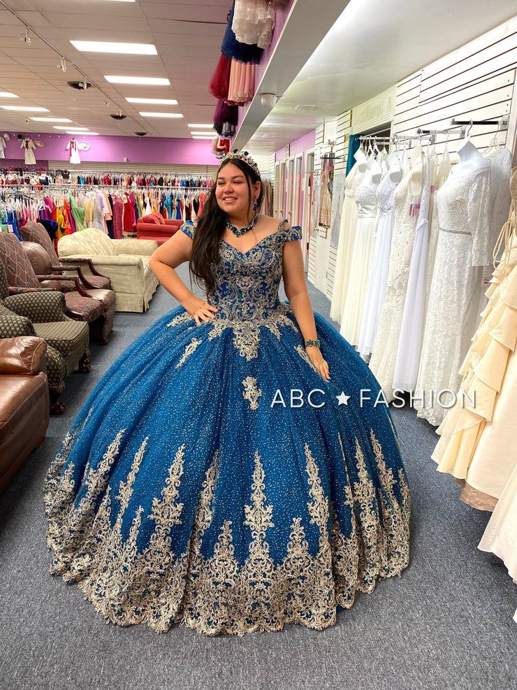 Off Shoulder Lace Quinceanera Dress by House of Wu 26951