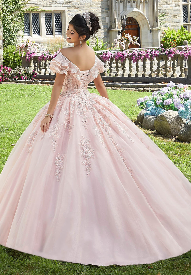 Off Shoulder Lace Quinceanera Dress by Mori Lee Valencia 60107-Quinceanera Dresses-ABC Fashion
