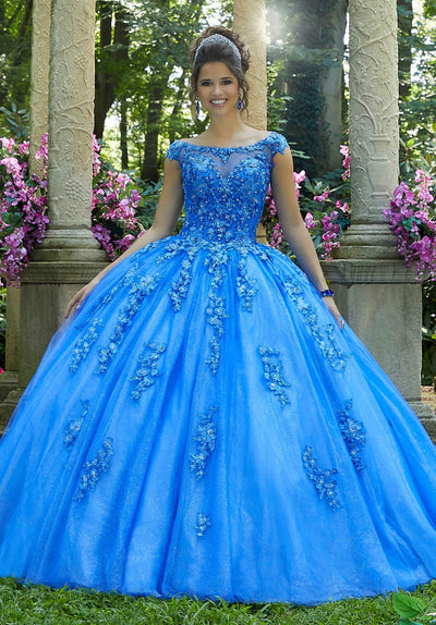 Off Shoulder Lace Quinceanera Dress by Mori Lee Vizcaya 89269-Quinceanera Dresses-ABC Fashion