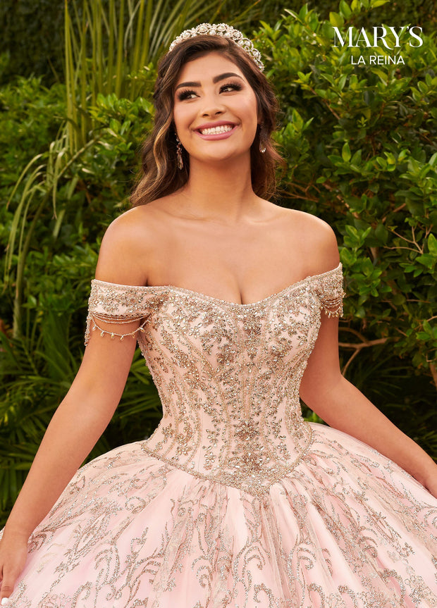 Off Shoulder Quinceanera Dress by Mary's Bridal MQ2127