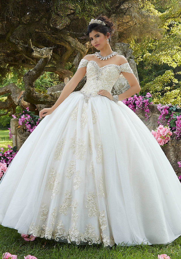 Off Shoulder Quinceanera Dress by Mori Lee Vizcaya 89263-Quinceanera Dresses-ABC Fashion