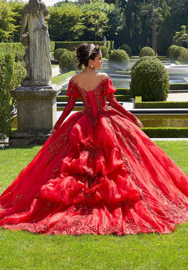 Off Shoulder Quinceanera Dress by Mori Lee Vizcaya 89304