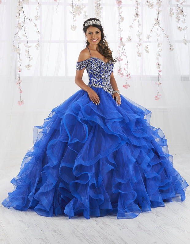 Off Shoulder Ruffled Quinceanera Dress by Fiesta Gowns 56369 (Size 24 - 30)-Quinceanera Dresses-ABC Fashion