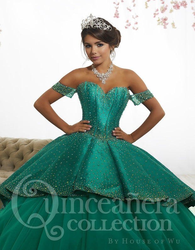 Off the Shoulder Quinceanera Dress by House of Wu 26887-Quinceanera Dresses-ABC Fashion