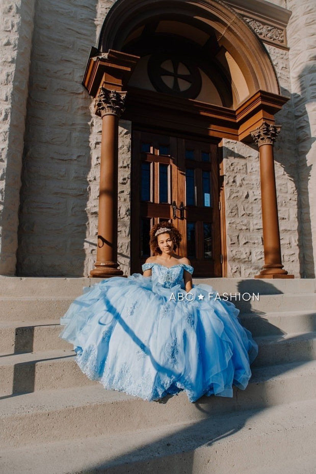 Off the Shoulder Quinceanera Dress by Mary's Bridal MQ2002