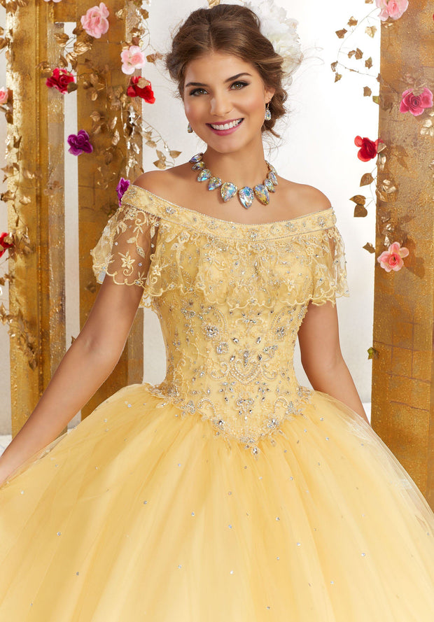 Off the Shoulder Quinceanera Dress by Mori Lee Valencia 60075-Quinceanera Dresses-ABC Fashion