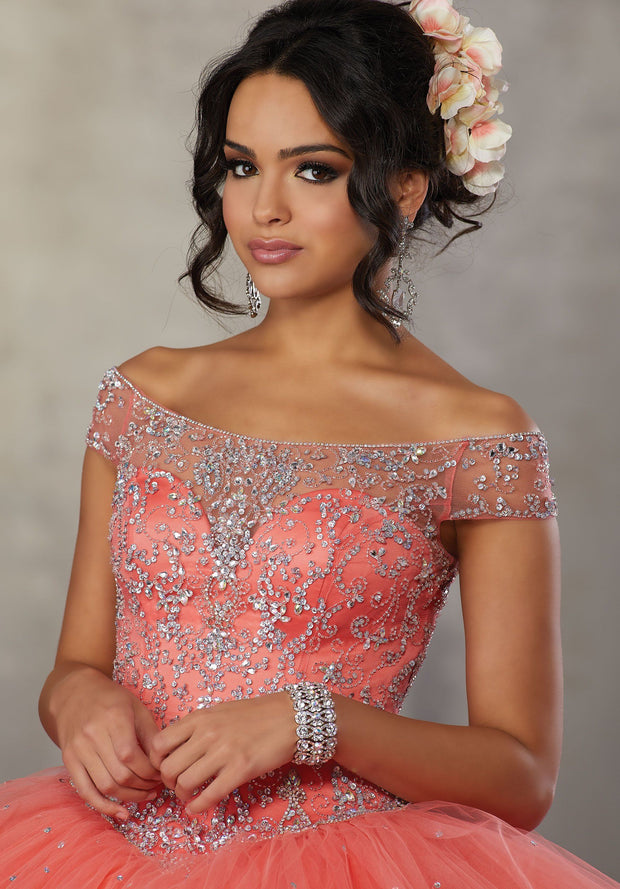 Off the Shoulder Quinceanera Dress by Mori Lee Vizcaya 89172-Quinceanera Dresses-ABC Fashion