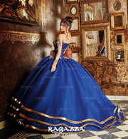 Off the Shoulder Quinceanera Dress by Ragazza Fashion V90-390-Quinceanera Dresses-ABC Fashion