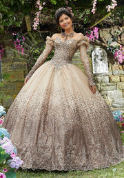Ombre Glitter Quinceanera Dress by Mori Lee Vizcaya 89278-Quinceanera Dresses-ABC Fashion