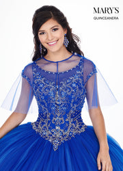 Ombre Quinceanera Dress with Short Sleeves by Mary's Bridal MQ2062-Quinceanera Dresses-ABC Fashion