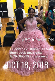 Organza Sweetheart Ball Gown with Ruffled Skirt by Elizabeth K GL1554-Quinceanera Dresses-ABC Fashion