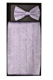 Paisley Cummerbund and Bow Tie Sets-Men's Cummerbund-ABC Fashion