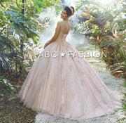 Patterned Glitter Quinceanera Dress by Mori Lee Vizcaya 89246-Quinceanera Dresses-ABC Fashion