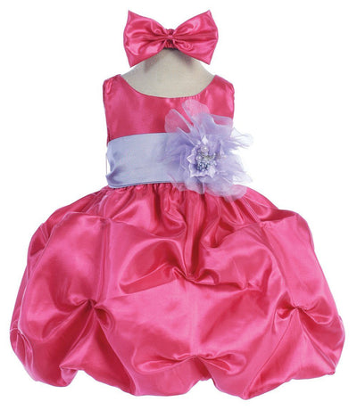 Pink Baby Dresses with Sash and Flower-Girls Formal Dresses-ABC Fashion