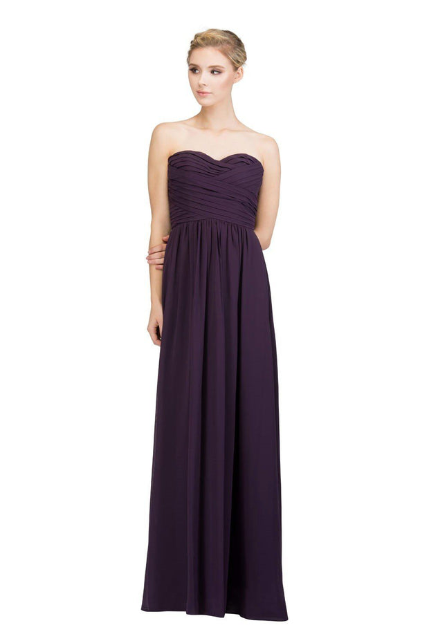 Pleated Long Strapless Sweetheart Dress with Corset Back by Star Box 6414-Long Formal Dresses-ABC Fashion