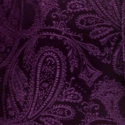 Plum Paisley Bow Ties with Matching Pocket Squares-Men's Bow Ties-ABC Fashion