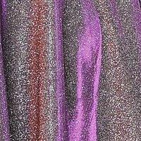 Plus Size Off Shoulder Metallic Glitter Gown by Poly USA W1096