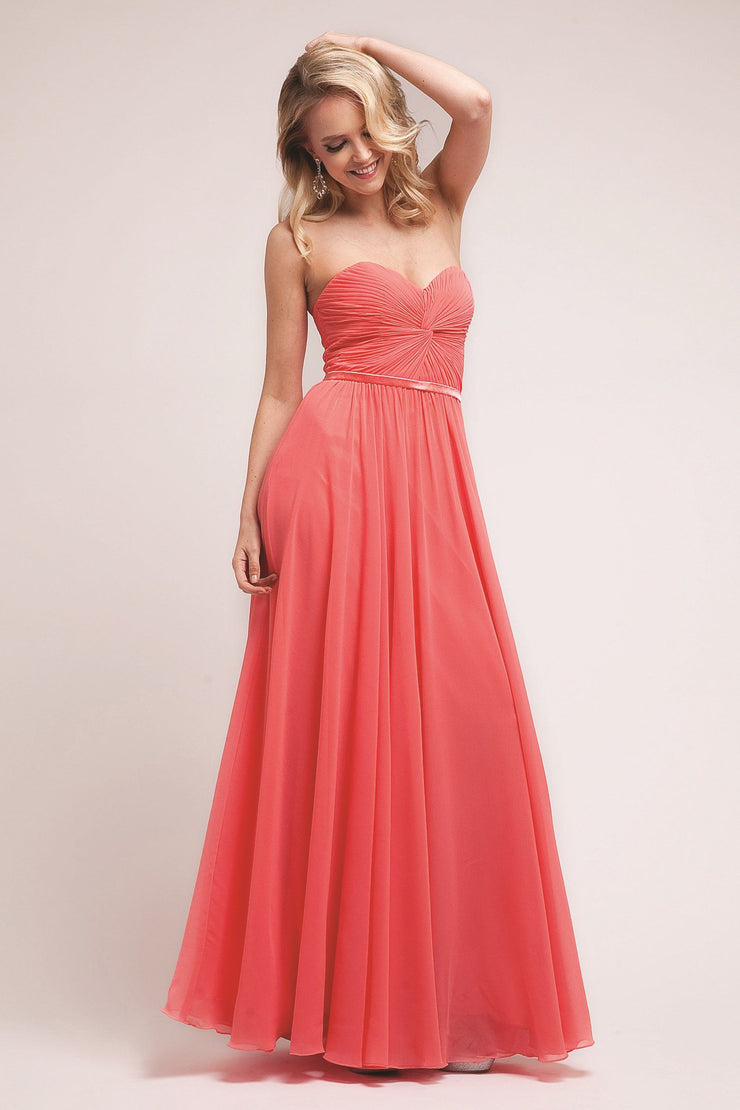 Long Strapless Sweetheart Dress by Cinderella Divine 7455-Long Formal Dresses-ABC Fashion
