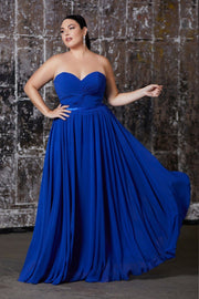 Plus Size Strapless Sweetheart Gown by Cinderella Divine 7455