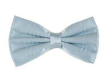 Powder Blue Silk Bow Ties-Men's Bow Ties-ABC Fashion