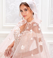 Princesa by Ariana Vara PR22036CLOAK Quinceanera Cape
