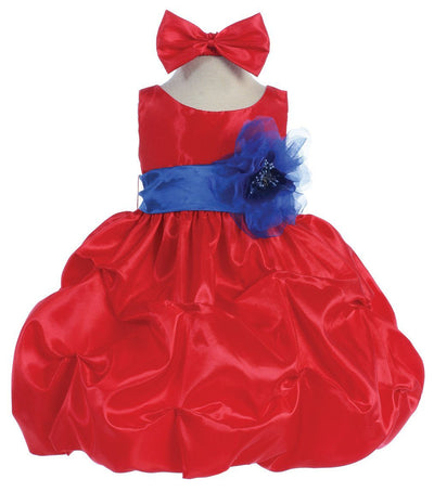 Red Baby Dresses with Sash and Flower-Girls Formal Dresses-ABC Fashion
