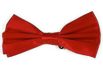 Red Silk Bow Ties-Men's Bow Ties-ABC Fashion