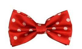 Red/White Polka Dot Bow Ties-Men's Bow Ties-ABC Fashion
