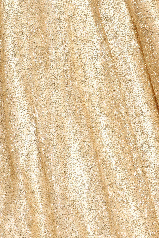 Rose Gold Glitter Strapless Ball Gown by Cinderella Couture
