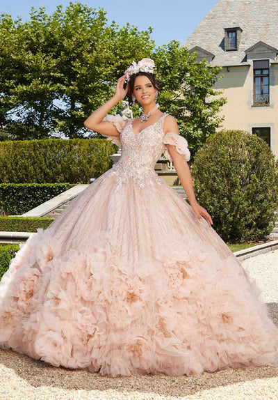 Rosette Quinceanera Dress by Mori Lee Valentina 34041