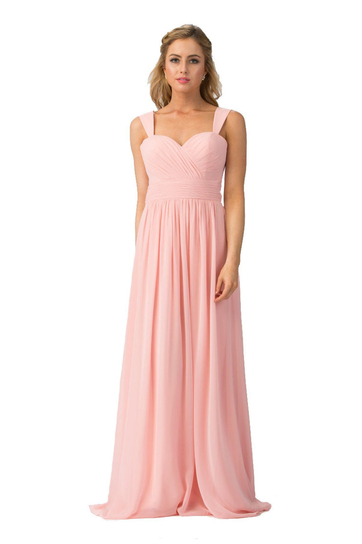 Ruched Long Sleeveless Sweetheart Dress by Star Box 6427-Long Formal Dresses-ABC Fashion