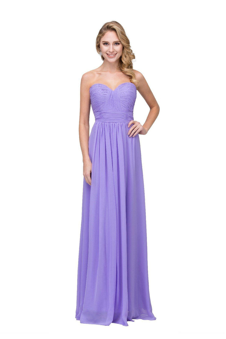 Ruched Long Strapless Sweetheart Dress with Corset Back by Star Box 6095-Long Formal Dresses-ABC Fashion