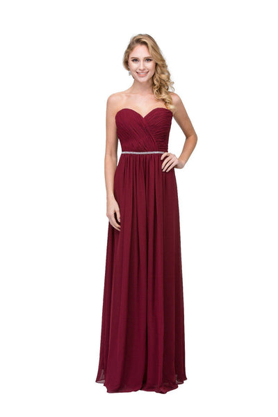 Ruched Long Sweetheart Dress with Corset Back by Star Box 6175-Long Formal Dresses-ABC Fashion