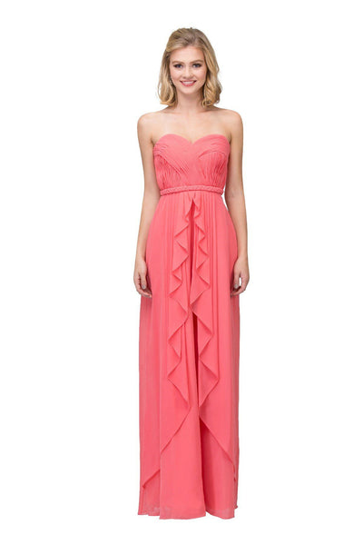 Ruched Long Sweetheart Dress with Corset Back by Star Box 6195-Long Formal Dresses-ABC Fashion
